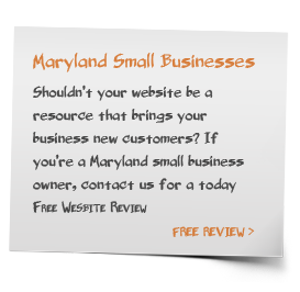 Maryland Small Business Free Website Review