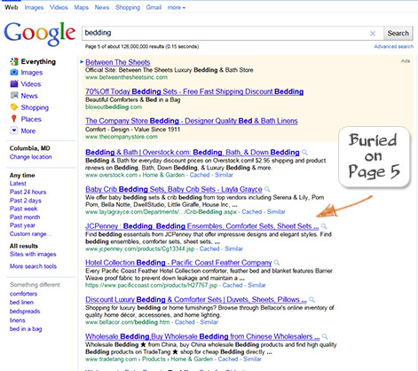 JC Penney Search Engine Optimization Example 2