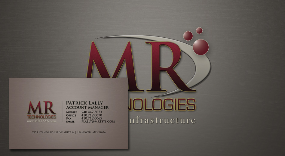 Business Card Redesign Mr Technologies Powersbusiness Com
