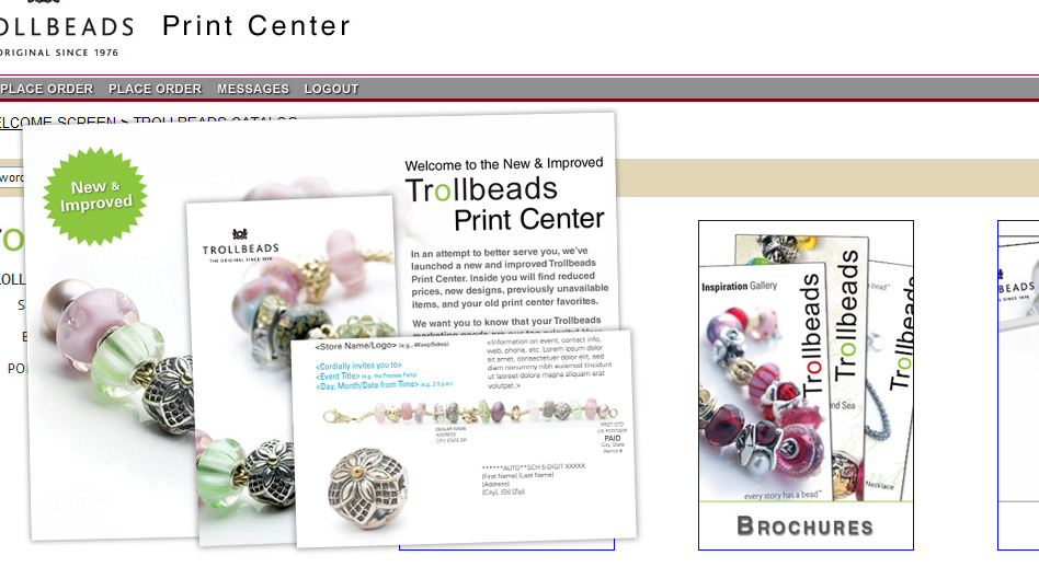 Web to Print Marketing | Trollbeads Print Center