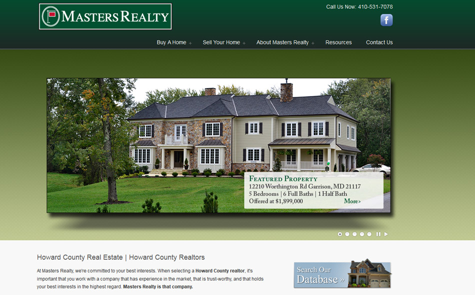 Masters Realty Website