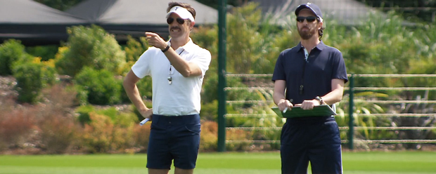 Jason Sudeikis as American Football Coach Ted Lasso